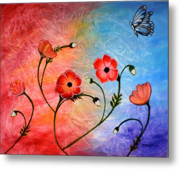 Vibrant Poppies Metal Print