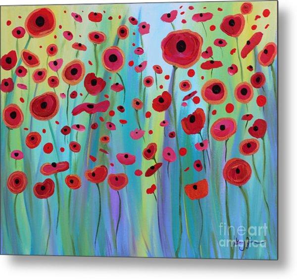 Vibrant Poppies Metal Print