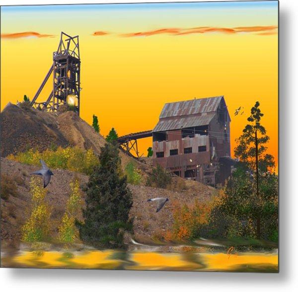 Victor Colorado Gold Mine Metal Print
