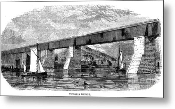 Victoria Bridge - Quebec - 1878 Metal Print