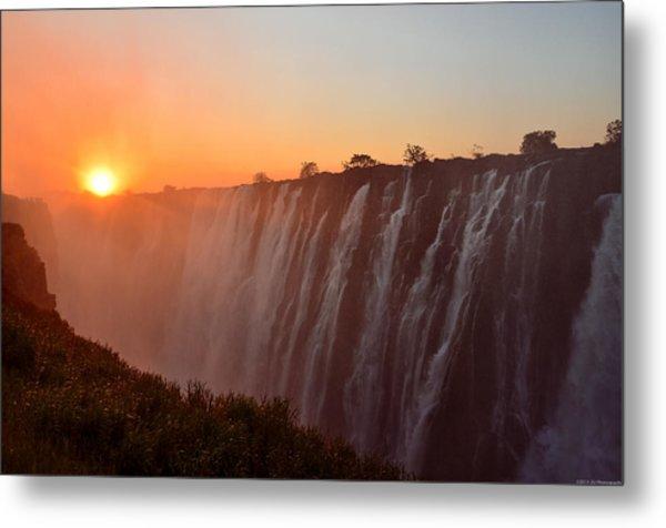 Victoria Falls At Sunset Metal Print