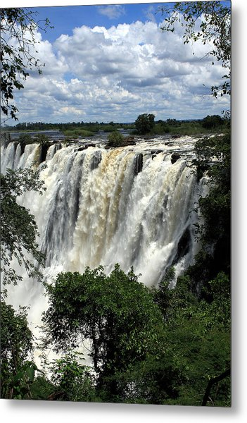 Victoria Falls On The Zambezi River Metal Print
