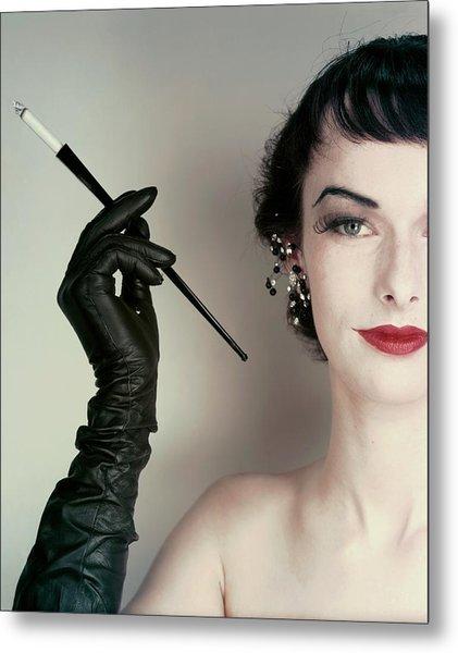 Victoria Von Hagen Holding A Cigarette Holder Metal Print