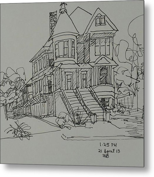 Victorian House Metal Print by Janet Butler