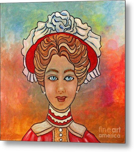 Victorian Lady-a Metal Print