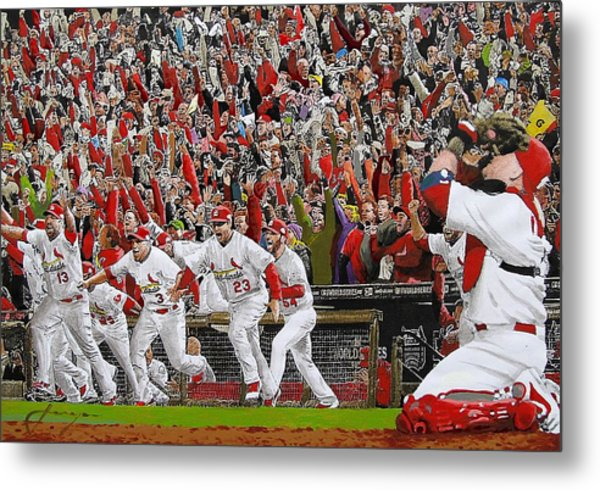 Victory - St Louis Cardinals Win The World Series Title - Friday Oct 28th 2011 Metal Print
