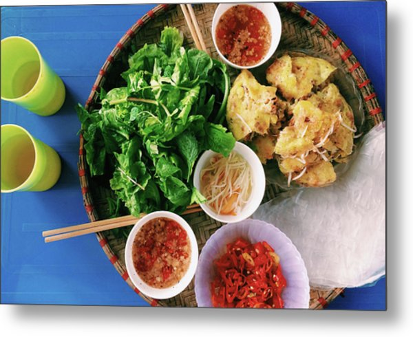 Vietnamese Local Food - Banh Xeo Metal Print by Quynh Anh Nguyen