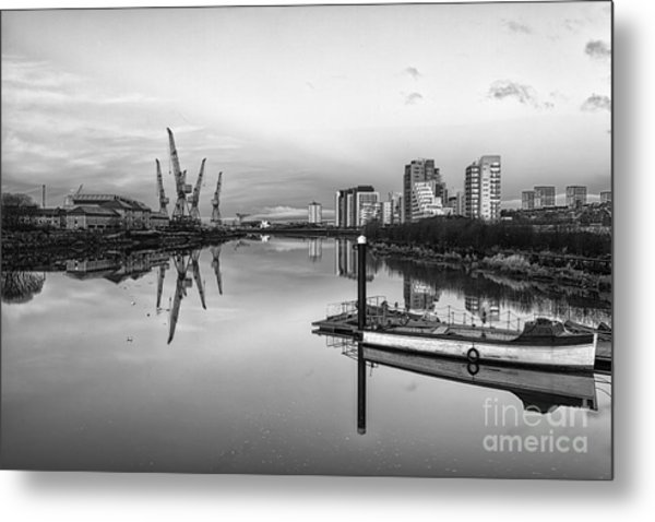 View Down The Clyde Mono Metal Print