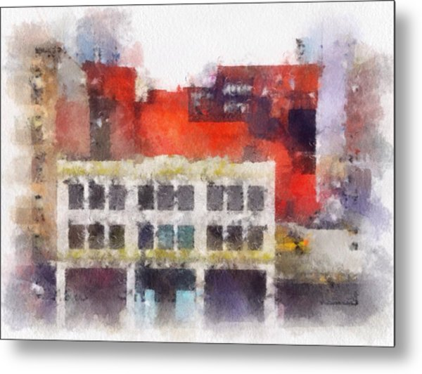 View From A New York Window Metal Print