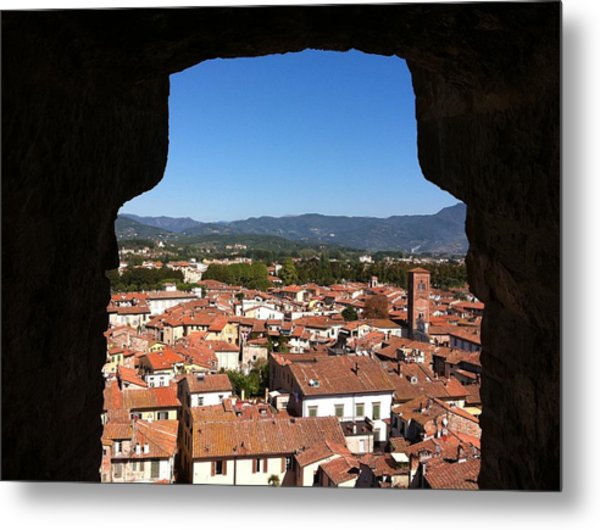 View From A Tower Window In Lucca Metal Print