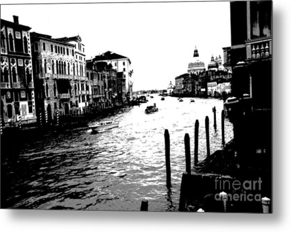 View From Accademia Bridge Metal Print by Jacqueline M Lewis