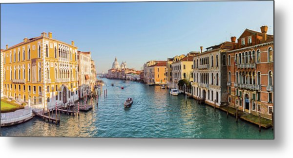 View From Accademia Bridge On Grand Metal Print by Dietermeyrl