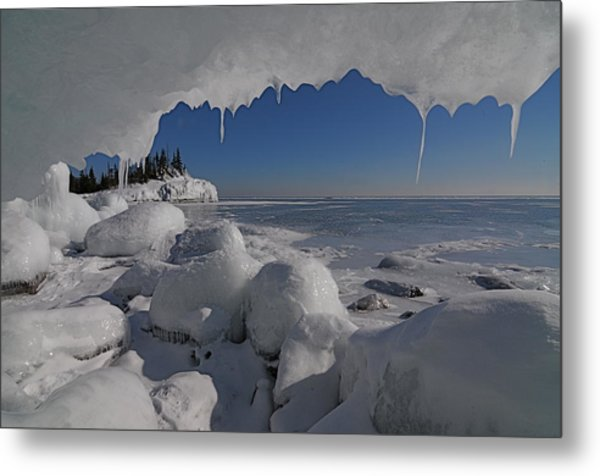 View From An Ice Cave Metal Print