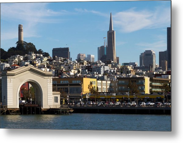 View From Bay Metal Print by Bernard  Barcos