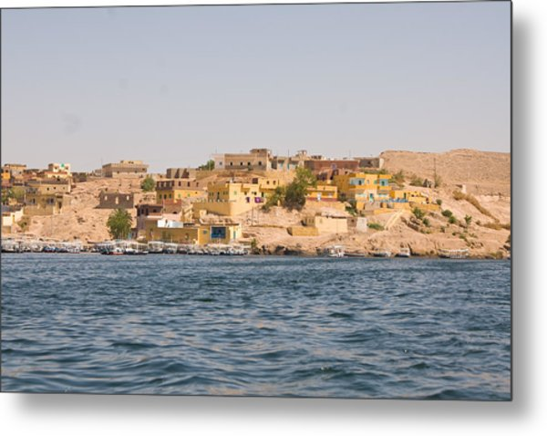 View From Boat Metal Print