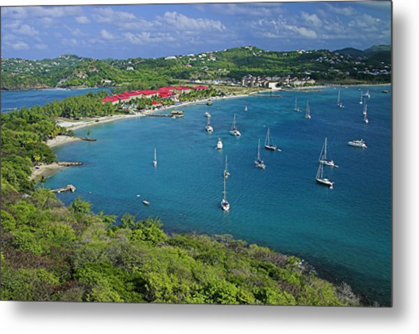 View From Fort Rodney-st Lucia Metal Print