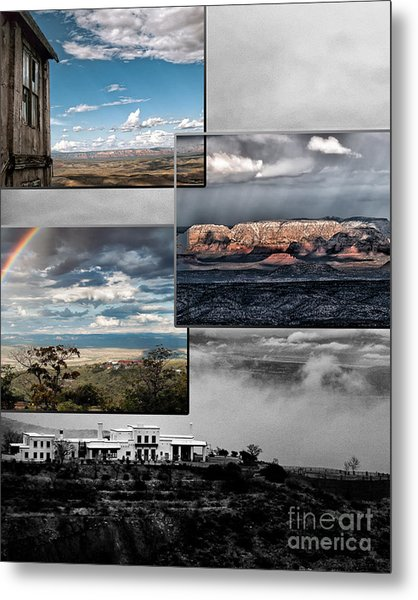 View From Jerome Metal Print by David Mendoza