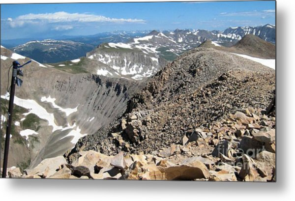 View From Mt Sherman Summit Metal Print by Claudette Bujold-Poirier