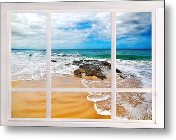 View From My Beach House Window Metal Print