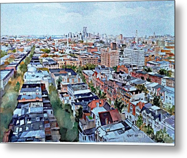 View From Penthouse Prospect Park West Metal Print