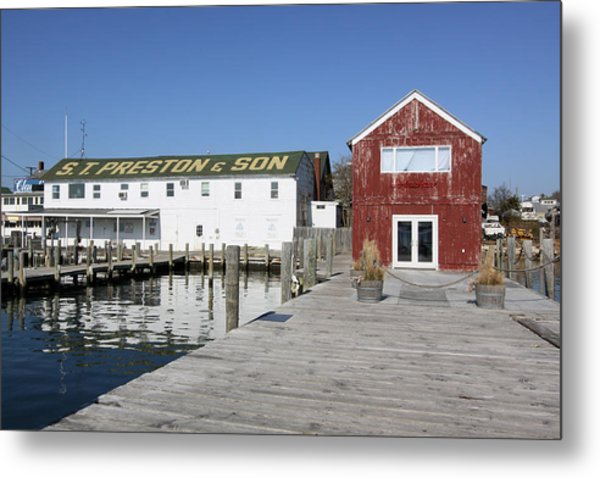 View From Pier Greenport New York Metal Print