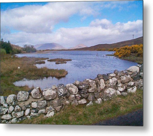 View From Quiet Man Bridge Oughterard Ireland Metal Print