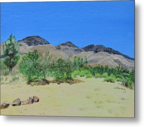 View From Sharon's House - Mojave Metal Print