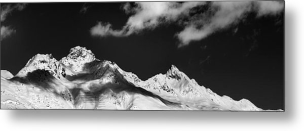 Metal Print featuring the photograph View From St. Moritz by Marc Huebner