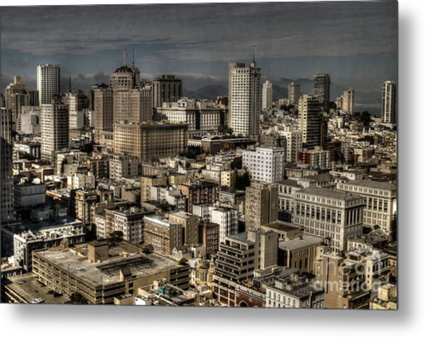 View From The 31st. Floor Metal Print by Sylvia Blaauw