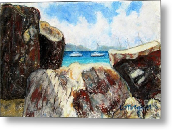 View Of Devil's Bay Metal Print