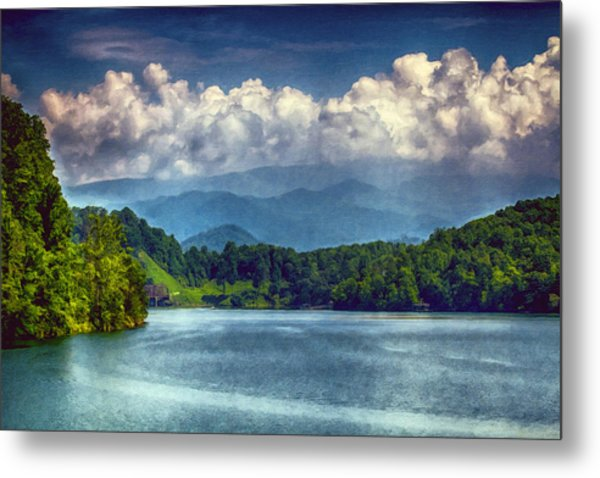 View From The Great Smoky Mountains Railroad Metal Print