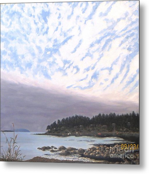 View From The Haven Beach Gabriola Metal Print by Beverly Theriault