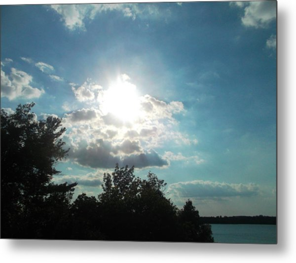 View From The Lake Metal Print by Tina Murray