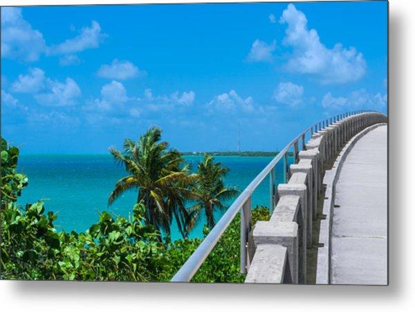 View From The Old Bahia Honda Bridge Metal Print