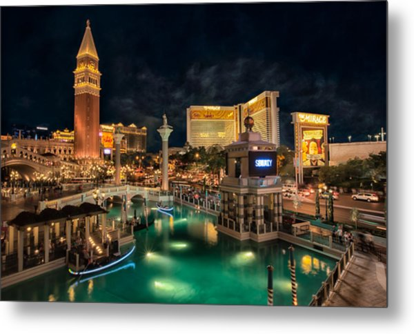 View From The Venetian Metal Print