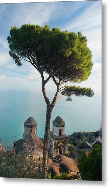 View From Villa Rufolo Metal Print by Christopher Groenhout