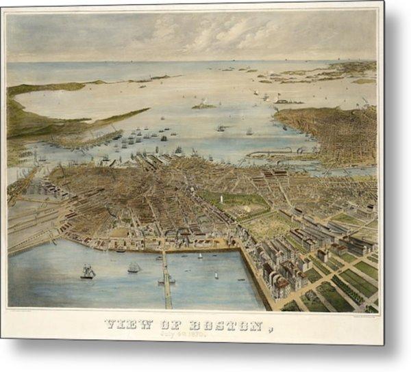 View Of Boston July 4th 1870 Metal Print