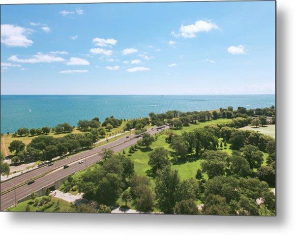 View Of Chicago, Lake Michigan, Lake Metal Print