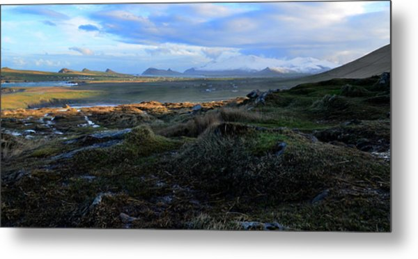 View Of Clogher Beach And The Three Sisters Metal Print