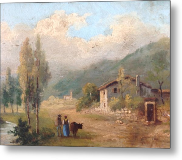 View Of Countryside Metal Print