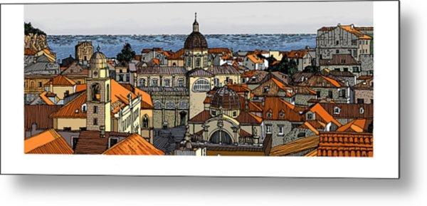 View Of Dubrovnik Metal Print