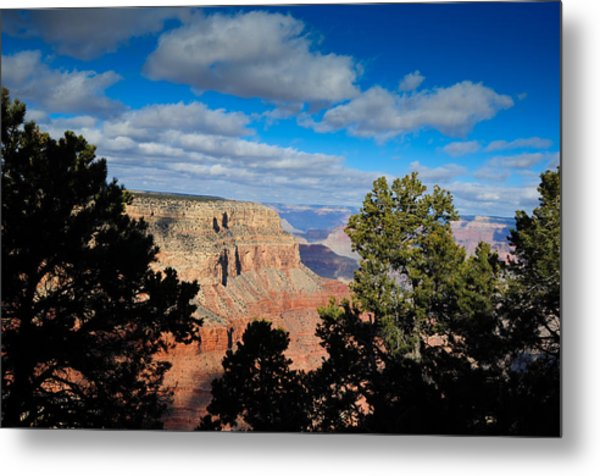 Grand Canyon Through The Junipers Metal Print