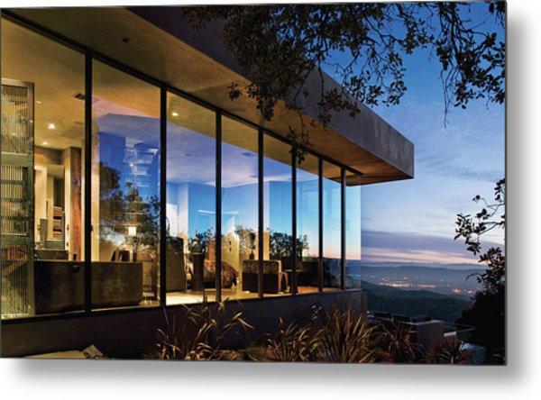 View Of Luxurious Resort At Dusk Metal Print