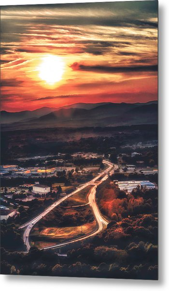 View Of Lynchburg Metal Print
