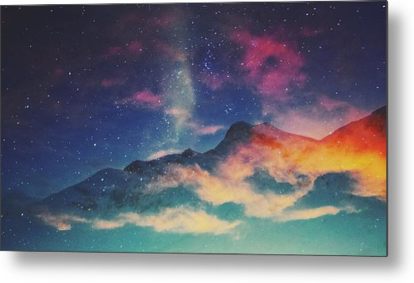 View Of Mountain Covered With Clouds Metal Print by Haydn Gawer / Eyeem