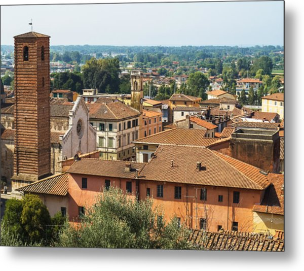 View Of Pietrasanta Metal Print