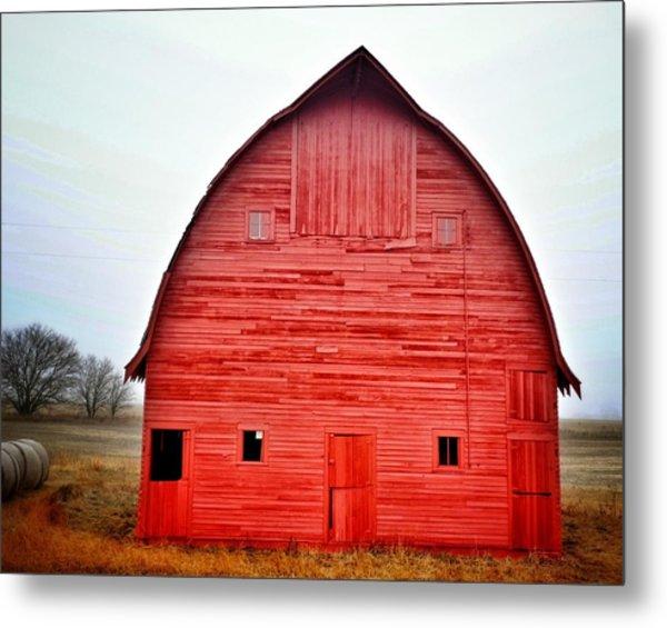 View Of Red Barn Metal Print by Shannon Ramos / Eyeem
