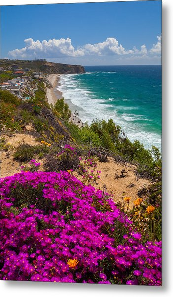 View Of Strand Beach And Dana Point Headland Metal Print