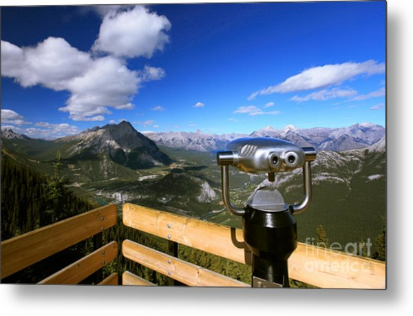 View Of The Canadian Rockies Metal Print
