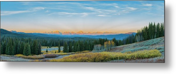 View Of The Grand Teton Mountains Metal Print by Richard and Susan Day
